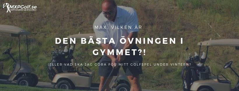 Vilken är den bästa övningen i gymmet? (Eller vad ska jag göra för mitt golfspel under vintern?)